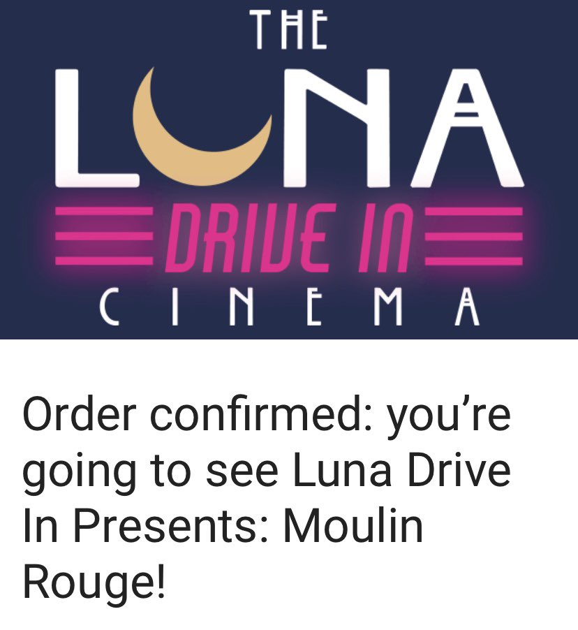 Getting on the Drive in Cinema hype #LunaCinema #DriveIn #MoulinRougepic.twitter.com/yAqvJlejYd