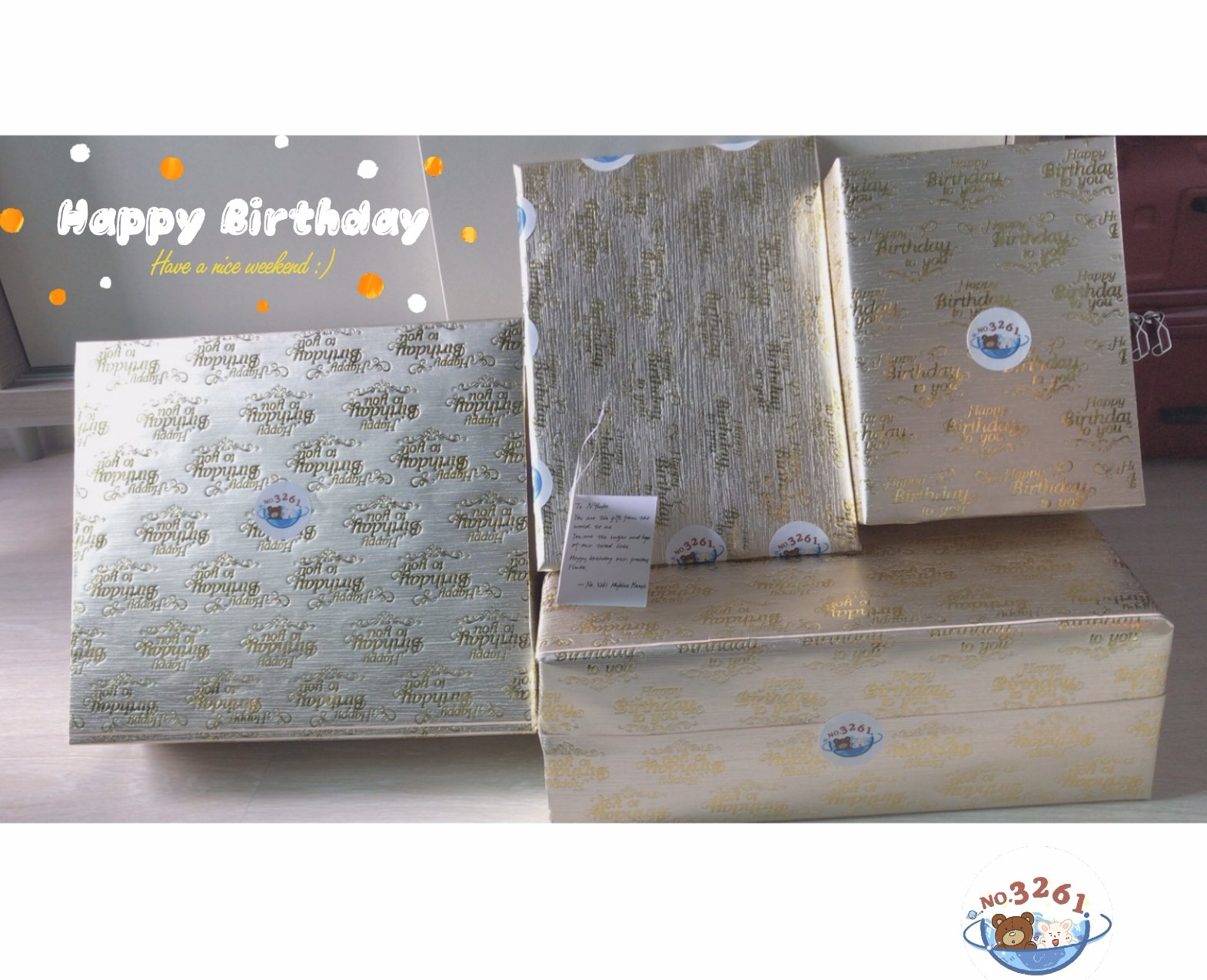 [3261 ] Gifts from 3261 Planet Happy Birthday My little prince             ~