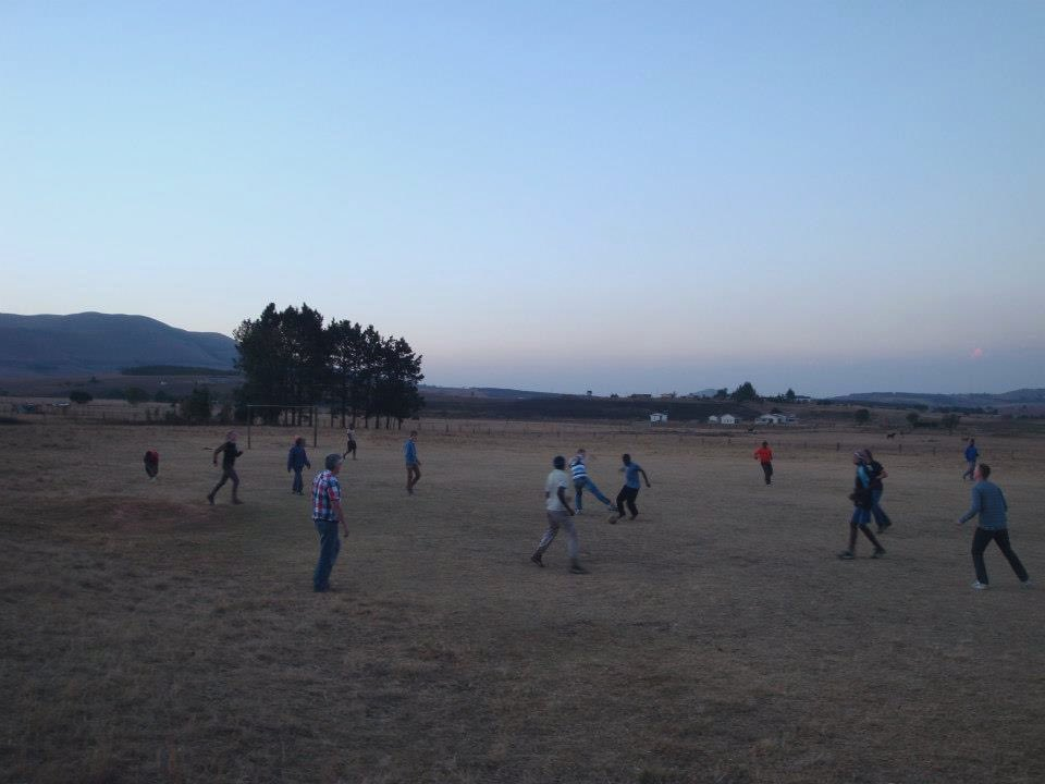 2012, South Africa. During a 4 week group-tour through the country, playing football with some locals who needed nothing more than some wood to build the goals, and a football. Great, great memories. And what a place! 😍