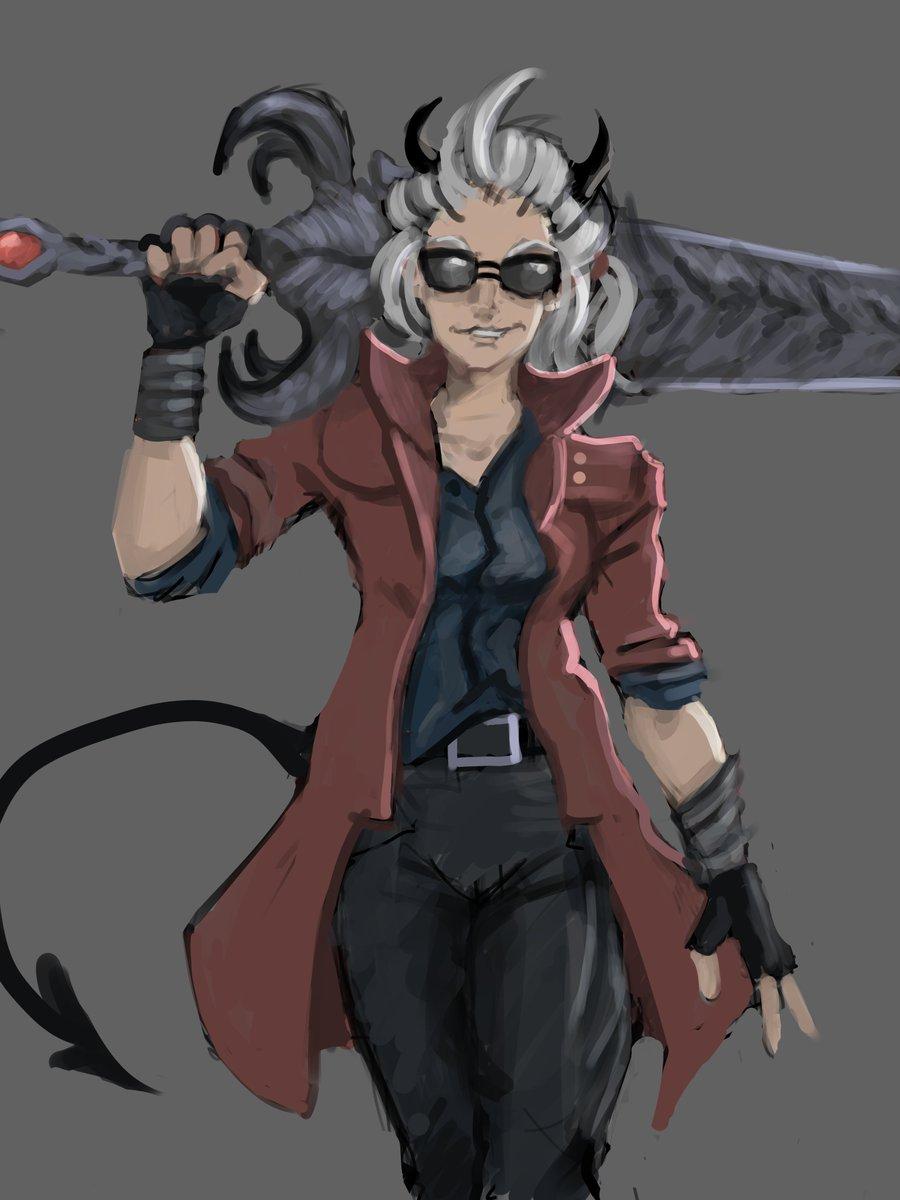 Justice in Dante suit #Helltaker<br>http://pic.twitter.com/fe8AAEbM6j