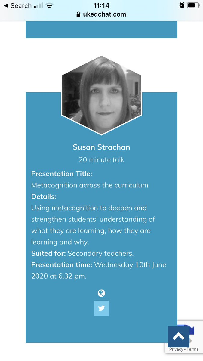 The fab @SusanSEnglish is also speaking @ukedchat conference