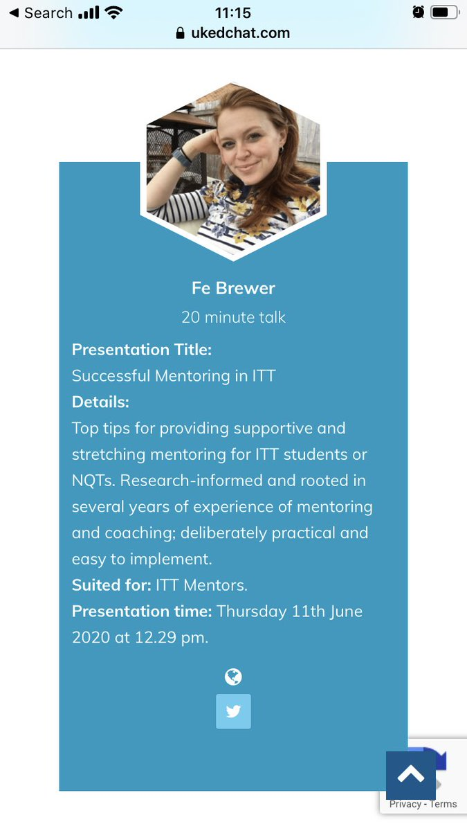 My good friend @mrsbrewtandcake is also speaking at @ukedchat