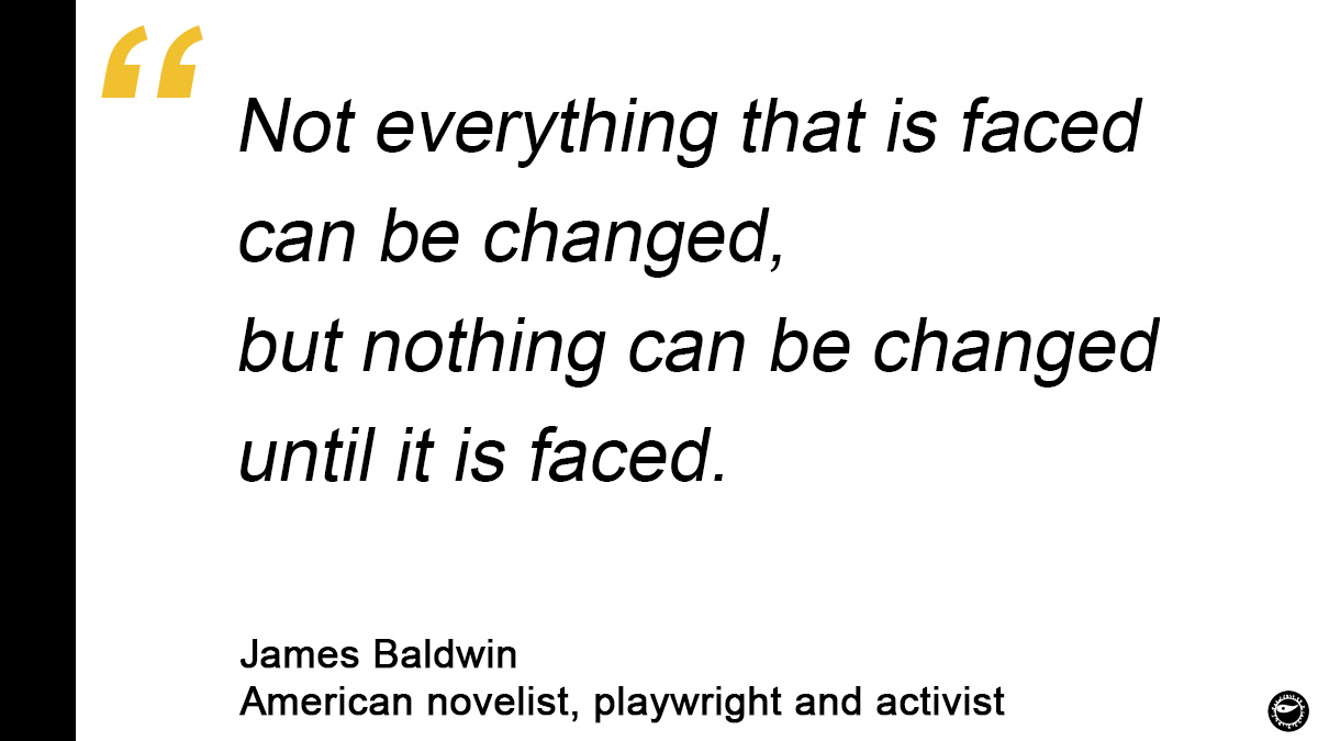 Recent events are shaking the very foundations of our societies and we are at the moment of truth. I remember James Baldwin who inspired the first story I wrote as a teenager. I couldn't meet him before he died in France but his words resonate today more than ever #SundayThoughts