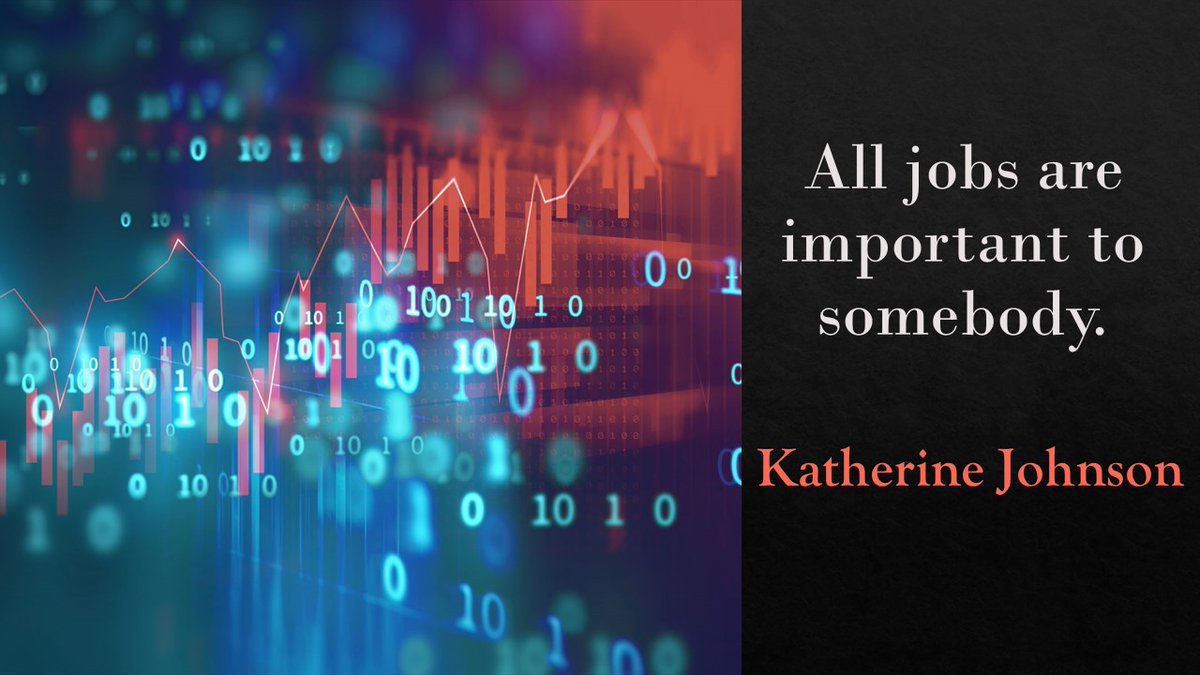 All jobs are important to somebody. #katherinejohnson #hiddenfigures #nasa the American mathematician whose calculations were critical to the success of the first and subsequent US crewed spaceflights. #leader #ThinkBIGSundayWithMarsha #accountspayable #fintech #WomeninBusiness pic.twitter.com/XG6tqpzBJv
