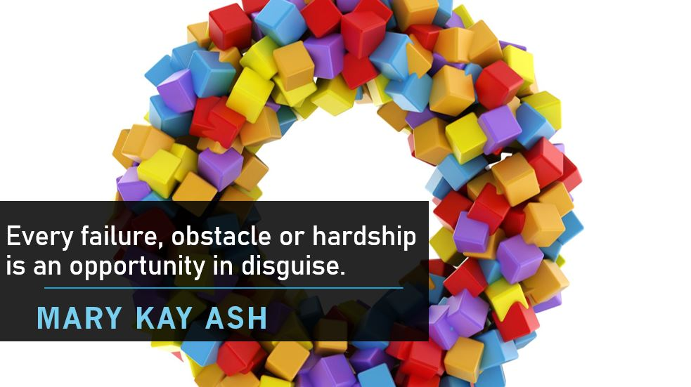 Every failure, obstacle or hardship is an opportunity in disguise. #marykayash, founder of Mary Kay Cosmetics  #innovation #Career #Accounting #audit #ThinkBIGSundayWithMarsha #technology #fintech #QOTD  #accountspayable #womeninbusiness pic.twitter.com/AY8boVFIcN