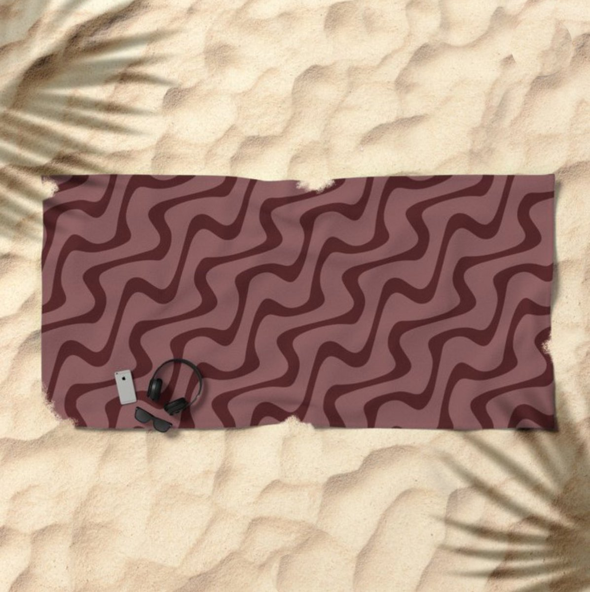 """Rosewood Zig Zag"" Beach Towel  #PulaskiShepherdCo #pscsco #RosewoodZigZag #BeachTowel #society6  https://society6.com/pscscopic.twitter.com/GBwrMbw9WF"