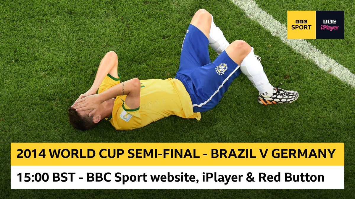 In 22 years as a pundit, and 40 years in the game, I have never seen anything like it. Relive the incredible semi-final clash between Brazil and Germany at the 2014 World Cup. Watch on the BBC Sport website, @BBCiPlayer and Red Button from 15:00 BST!