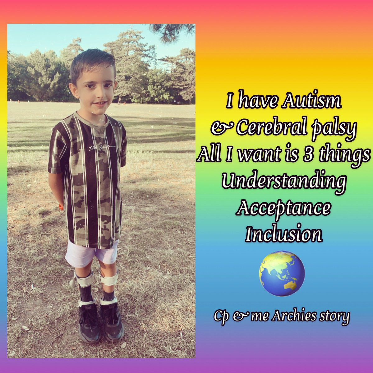 #understanding #acceptance #inclusion #autism #cerebralpalsy #disabilityawareness #archiesstory https://t.co/iL0natLy9D