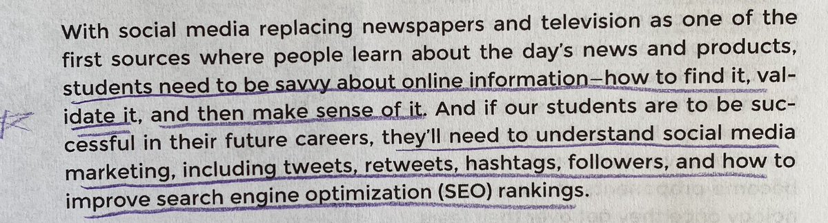 Reading the Google Infused Classroom by @HollyClarkEdu & @TanyaAvrith Loved this thought. Are we teaching Ss all the tools they'll need to understand for their future careers? Are we going beyond just reading & writing when teaching literacy? #wcpsmd #edchat