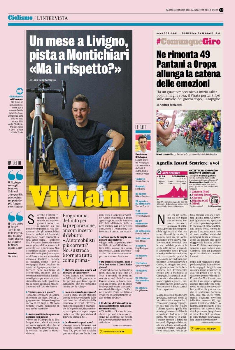 My interview yesterday on @Gazzetta_it. Many topics covered with @cirogazzetta 😉 https://t.co/HpFzdBelQb