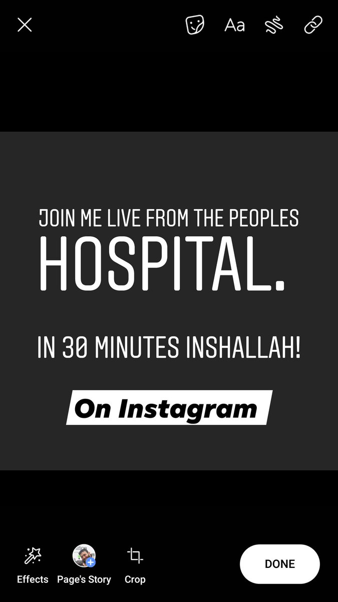 Join me live on Instagram from our hospital. I have something to show you... instagram.com/doctorshajulis…