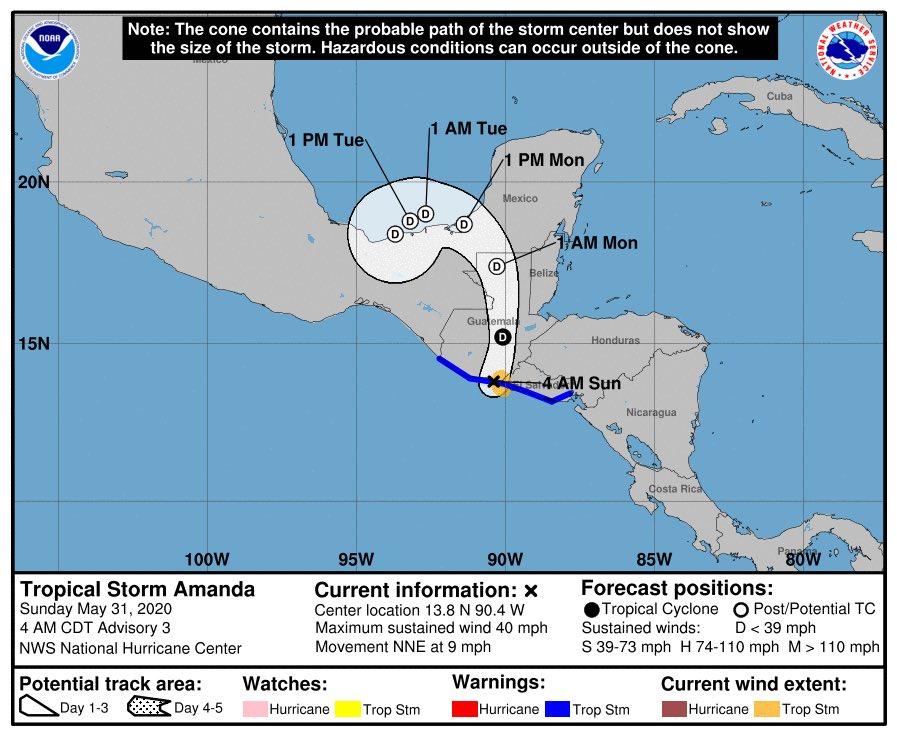 test Twitter Media - Esta madrugada se ha formado la TORMENTA TROPICAL AMANDA  afectando con lluvias de leves a moderadas del Sur al Norte del país, la Conred mantiene monitoreo de este fenómeno hidrometeorológico a su paso dentro de nuestro país.Vía: @ConredGuatemala https://t.co/FW78lB8LB3