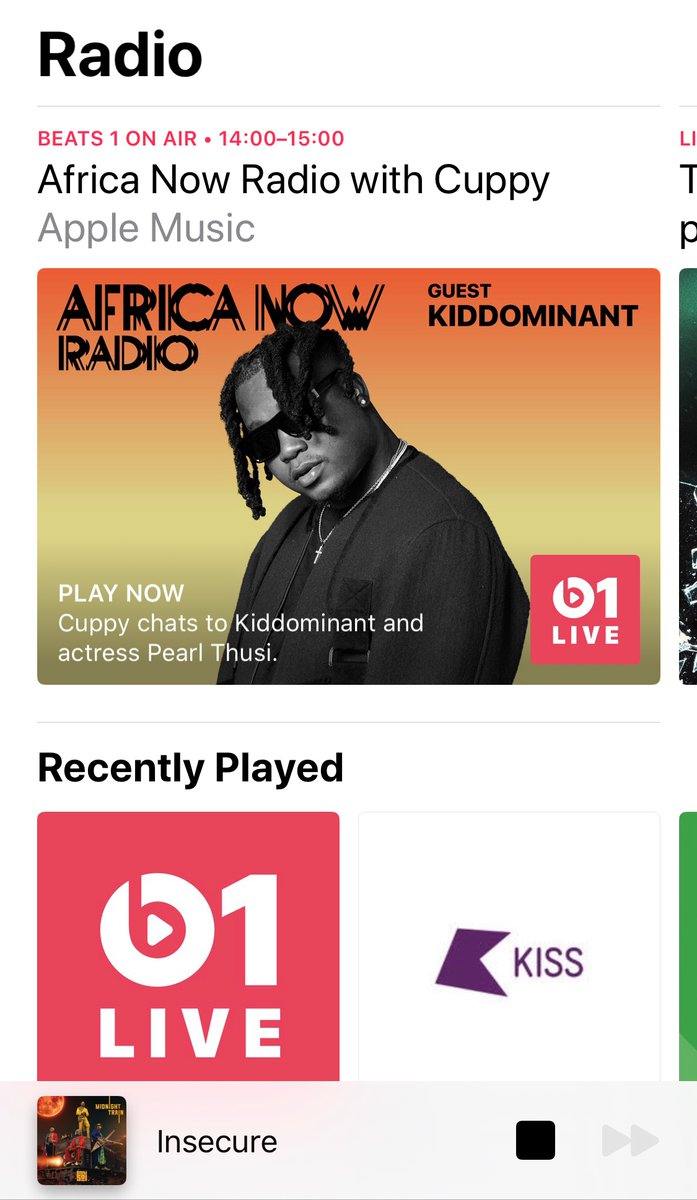 Hearing @sautisol on #AppleMusic, Insecure is a tune! https://t.co/GIB0r2dNAH