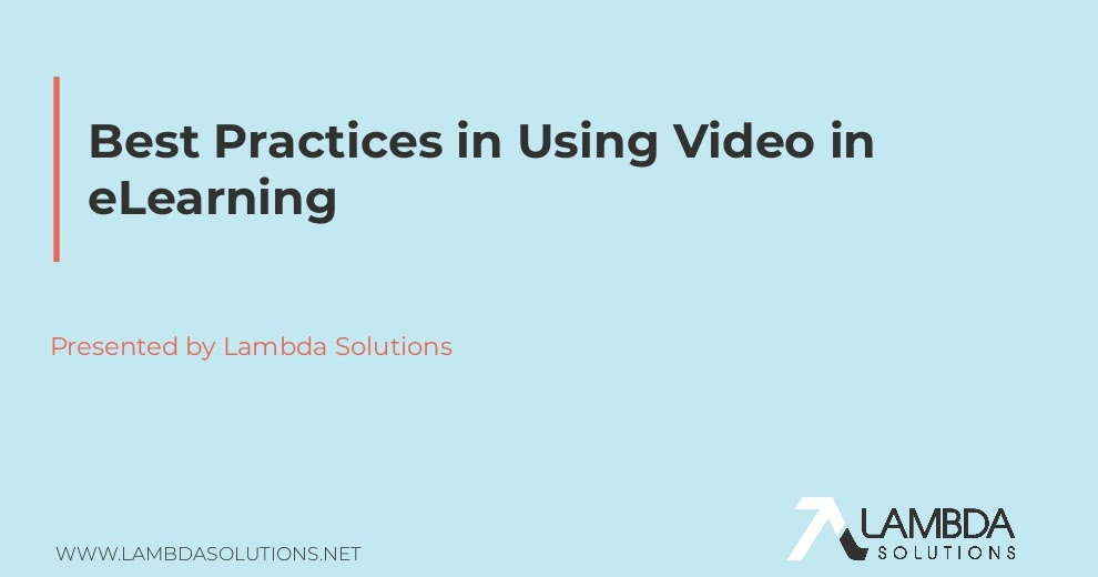 Watch And Learn: Best Practices For Using Video In eLearning. Lambda Solutions @lambdasolutions  #elearning #mlearning #video #imagen #edtech #pedagogy #pedagogía #educación #education #LMS