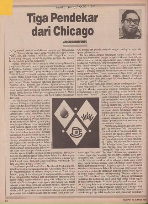 Buya Ahmad Syafi'i Ma'arif merupakan satu dari tiga pendekar Chicago dalam tulisan Gus Dur. Hari ini, Buya berulangtahun yang ke-85. Semoga Buya selalu diberi kesehatan agar terus bimbing bangsa ini menjadi bangsa madani yg moderat dan berkemajuan. @SerambiBuya @maarifinstitute https://t.co/fNf73LIhJG