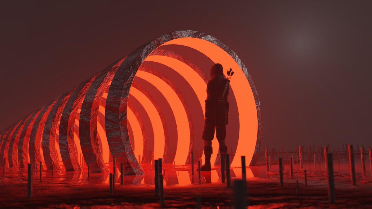 """Fantasy Environment"" by @ deadpsychoo  DeadPsychoo is a 3D Environment Designer, video editor and modelling artist.  Visit his great blender work on his Creary portfolio:  https://creary.net/@deadpsychoo  #creary #3D #blender #cryptoart #blockchain #illustration #artpic.twitter.com/DHJR3Fso2s"