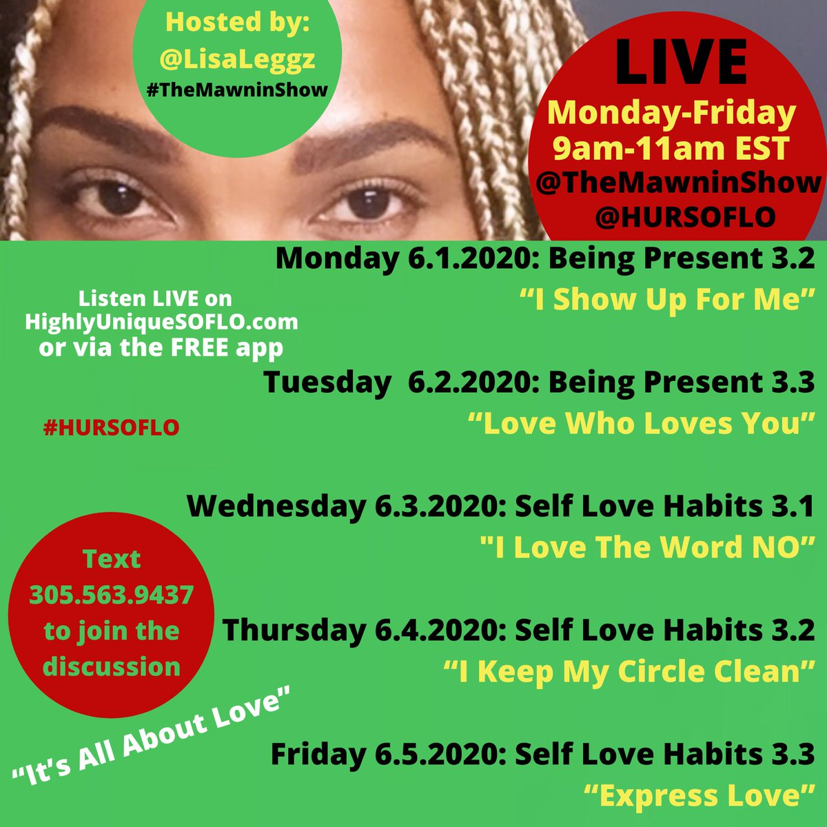 It's an intense we we have ahead of ushere are #themawninshow topics and #affirmations to keep us centered and anchoring love tune in at http://highlyuniquesoflo.com/hursoflo  or the #hursoflo #freeapppic.twitter.com/3PJEmbGtuh
