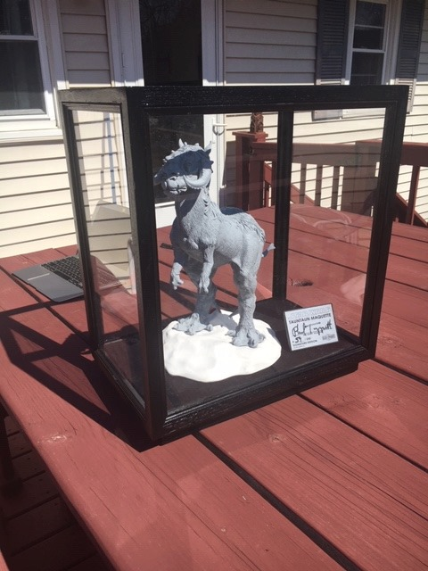 """From customer David O.: """"I just want to share with the #RegalRobot community a few pics of the #Tauntaun I received last month from Tom Spina/Regal Robot Studios. I finished making my display case for it yesterday and can't say enough but thank you again!"""" #StarWars #GeekDeco https://t.co/G8scOPuyFn"""