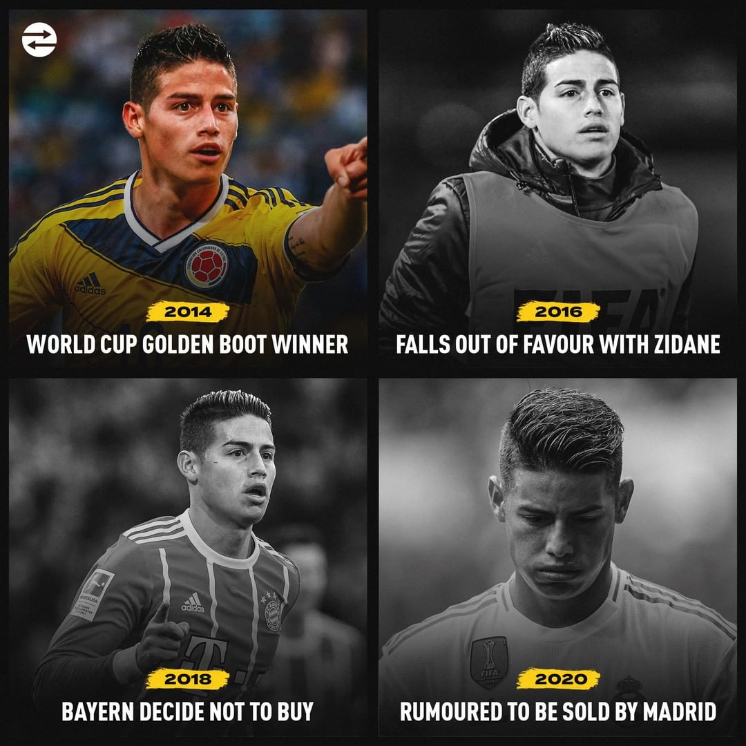 What went wrong for James Rodriguez?#RealMadrid pic.twitter.com/7UOXme2oBE