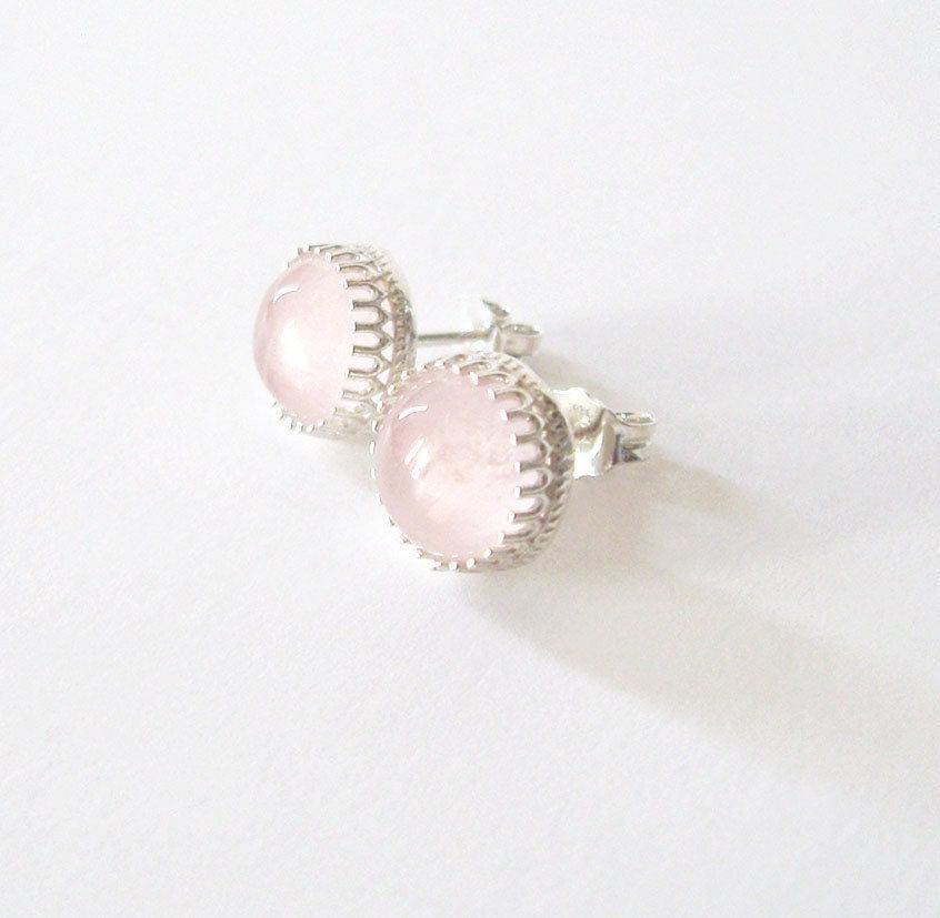 Rose Quartz Post Earrings, Sterling Silver Gallery Bezel Settings, Blush Pink 8mm Cabochons, Gemstone Studs https://etsy.me/2vTVuJr #jetteam #giftforwomen pic.twitter.com/vZzLZSY9Hg