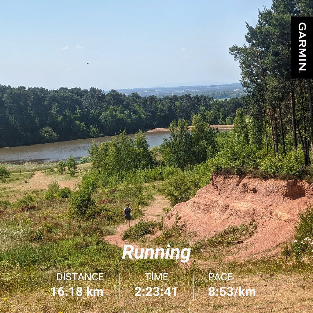 10 hilly miles ✔️across Shoal Hill common/#Cannockchase before heading through Cannock and Mill Green Nature reserve back home. The heat was an absolute killer so the route was mainly about staying in the shade & out of direct sun so I didn't fry! #longrunsunday @TrailRunningMag https://t.co/DswMZfXYb0