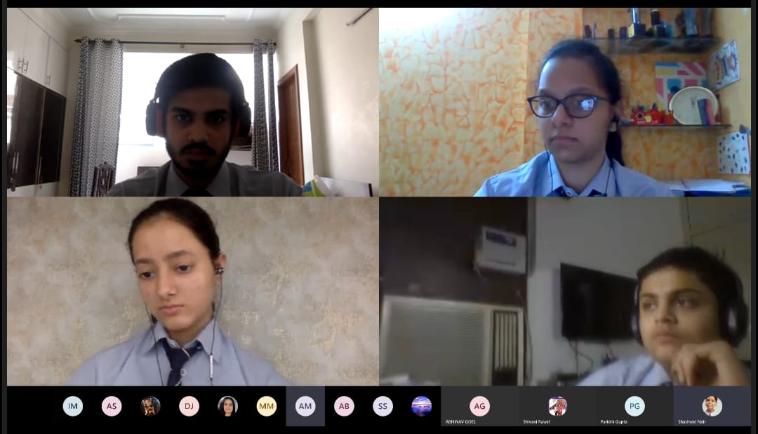 """On World NoTobacco Day ( 31st May 2020), students of class XII organised a Peer Moderating Session with the students of class Xth.Theme of this year was """"Protecting Youth from Industry Manipulation"""" and preventing them from tobacco use.#MicrosoftTeams @cbseindia29 #remotelearningpic.twitter.com/eoUr1a37ga"""
