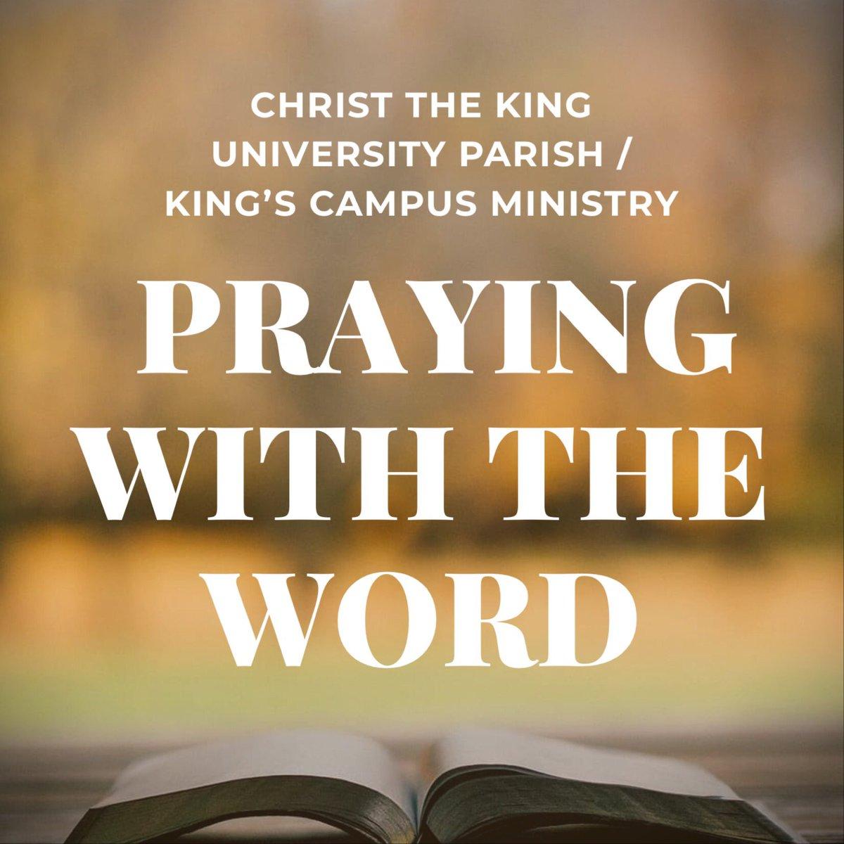 🙏🏻 PRAYING WITH THE WORD for PENTECOST SUNDAY: We offer this prayer resource: https://t.co/21Ib6Or7yJ #prayingathome #easter @kingsatwestern @DOL_ca @KUCalumni @KUCSC @kingsprincipal @askDeanJoe @KingsLib https://t.co/S6czaX6Hm4
