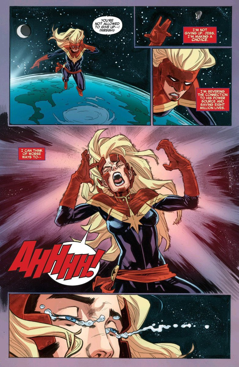 """""""We were charged with a mission - To protect our little piece of the stars. I want to be ready and on guard like I swore an oath to be. So you make your own decisions but I will not leave my post. Iam #CaptainMarvel of the Alpha Flight Space Program, and I will NOT abandon ship."""" https://t.co/cBD9Hn8KCj"""