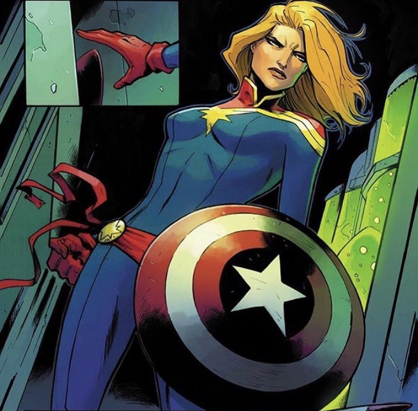 """""""My name is #CaptainMarvel... I am an Earthling and an Avenger... I am a woman of war. If you move against them, you move against me. I am willing to die here today, for this cause. I have made my choice... Now you make yours."""" https://t.co/giDYCLMyrM"""