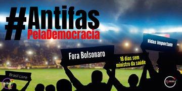 Torcedores de grandes times vão as ruas da maior cidade do país em manifesto contra Bolsonaro e favor da democracia