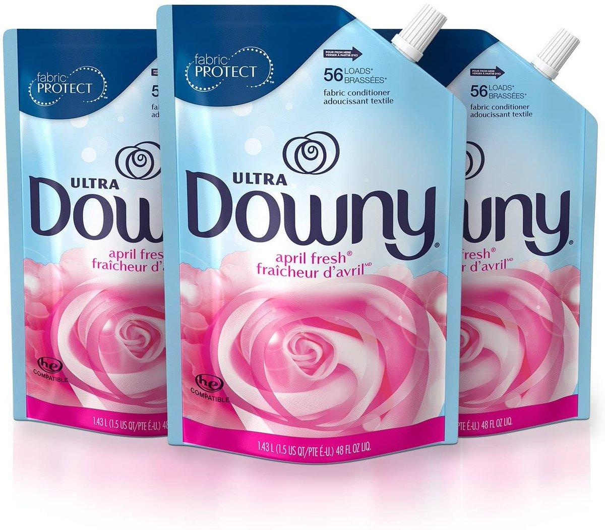 3 Packs of Downy Ultra Liquid Fabric Conditioner (Fabric Softener), April Fresh, 168 Loads Total  ONNLY $10.63 w/ coupon on page https://t.co/eoaktYX0yZ  #steals #deals #stealsanddeals #promotion https://t.co/LCj7W3efAv