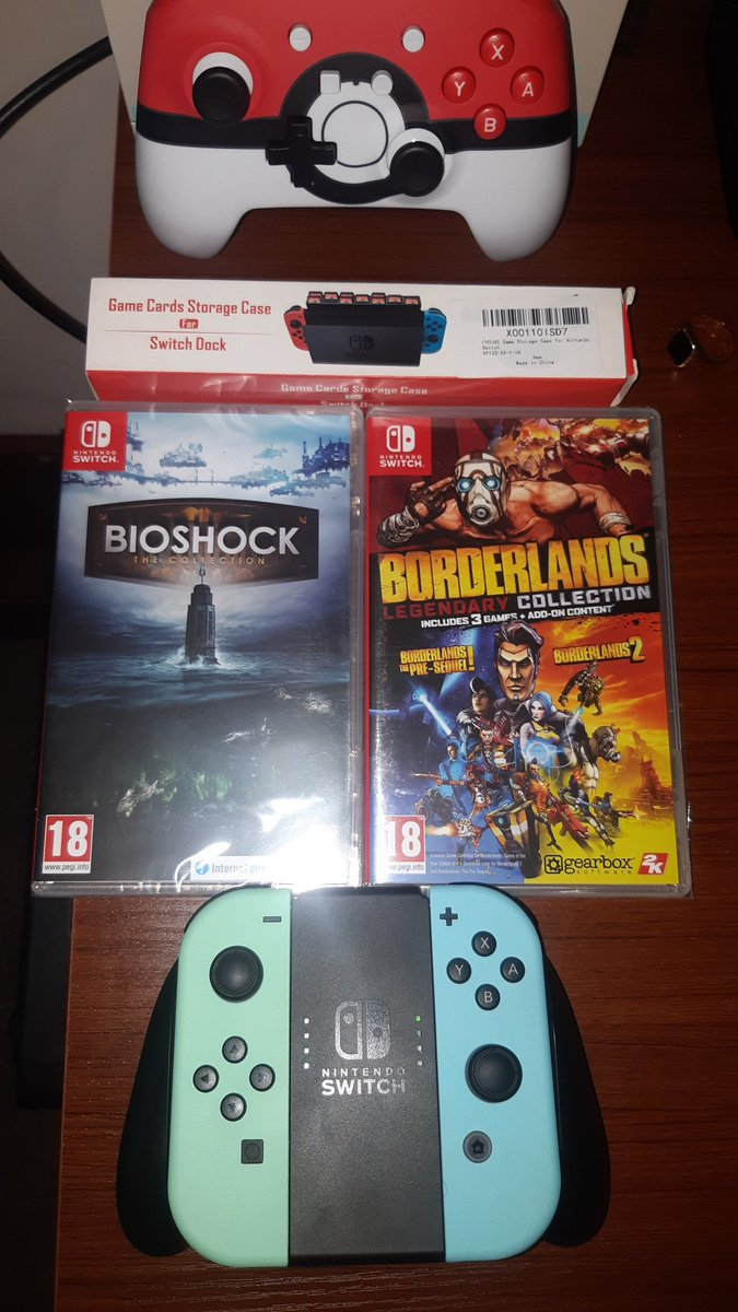#2kswitch supplying the quarantine entertainment for the foreseeable future. #Borderlands #BioShock #NintendoSwitch #QuarantineLife #gaming #2k<br>http://pic.twitter.com/75PoshQo7S