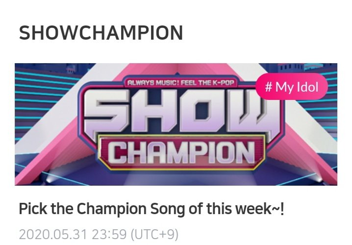 ‼️ ATTENTION MONBEBE ‼️ Last hour to vote for FANTASIA on idol champ for show champion prevoting. You can vote 3 times, please VOTE RIGHT NOW if you can and havent done yet. The voting closes at 11:59pm KST, Here is the link 👉 mbcplus.idolchamp.com/app_proxy.html… FIGHTING MONBEBES 💜