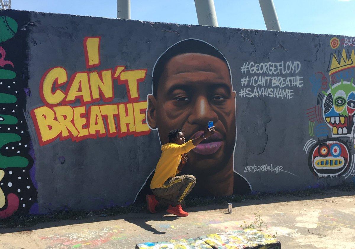 Meanwhile in Berlin, at Mauerpark. #Berlin #streetart #ICantBreathe #GeorgeFloyd #GeorgeFloydProtests #BlackLivesMatter https://t.co/Z7vIdCsnOP