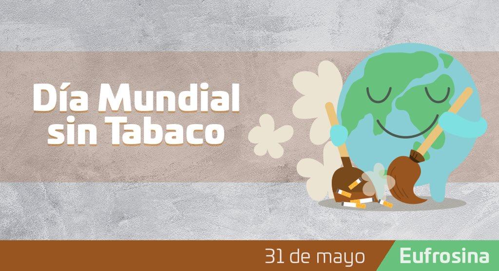 Más de 8 millones de personas mueren al año por el consumo de tabaco; reflexionemos sobre su consumo, construyamos una nueva generación libre de tabaco y de las enfermedades que este provoca.   #DíaMundialSinTabaco https://t.co/0epmyusglf