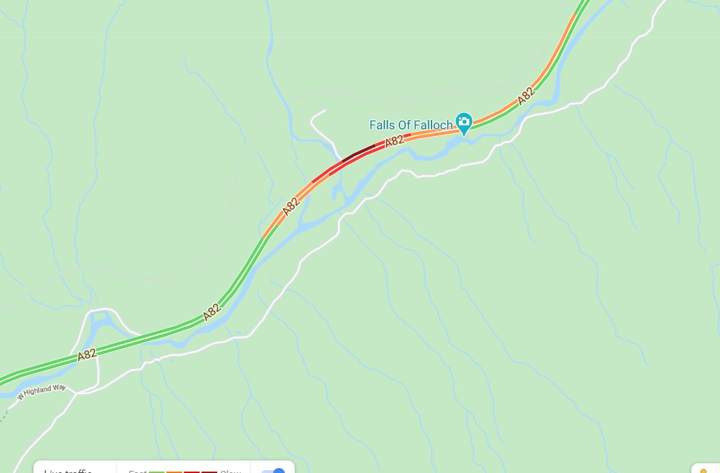 test Twitter Media - ❗️UPDATE ⌚️15:37  The #A82 is now closed in both directions at Falls of Falloch, Traffic very heavy in the area⛔️  @StirlingCouncil @lomondtrossachs https://t.co/auEtU9HHLj