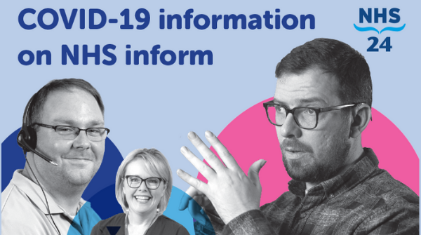 People who want to access the coronavirus self-help guide but don't use the internet can choose the automated voice option when they phone the NHS inform helpline on 0800 22 44 88 (open every day).