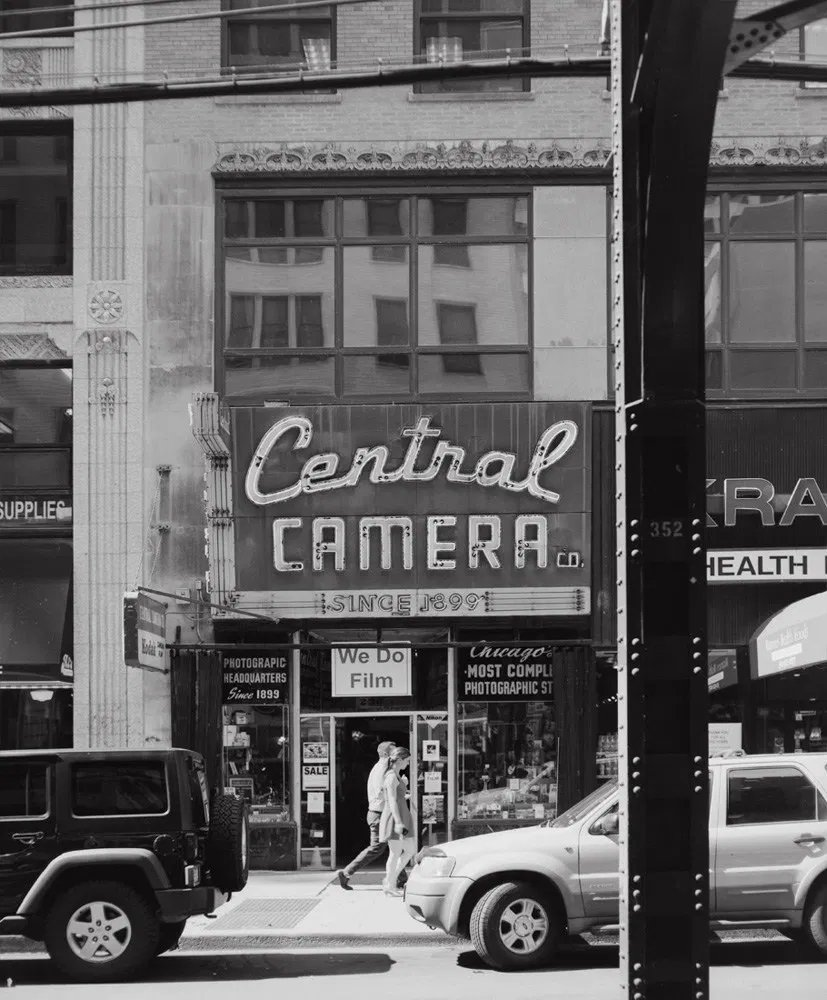Sad to see #CentralCamera in Chicago was damaged with fire at the protests and unrest from the killing of #GeorgeFloyd. This is the shop where #VivianMaier brought her film. I photographed the shop with a 4x5 camera while in town on a commercial shoot in 2017. #film #filmphoto pic.twitter.com/Qzjvopkui8  by Kenneth Wajda
