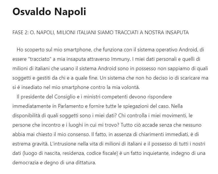 Osvaldo Napoli, deputato di @forza_italia. Questa è la classe #politica chiamata ad amministrare l'italia. Tracciato a sua insaputa da una #App che non esiste. #Insediati come un #trojan in Parlamento, #Immuni nel produrre cazzate. https://t.co/uAeIBHeZeI https://t.co/KrJm7Y6o03