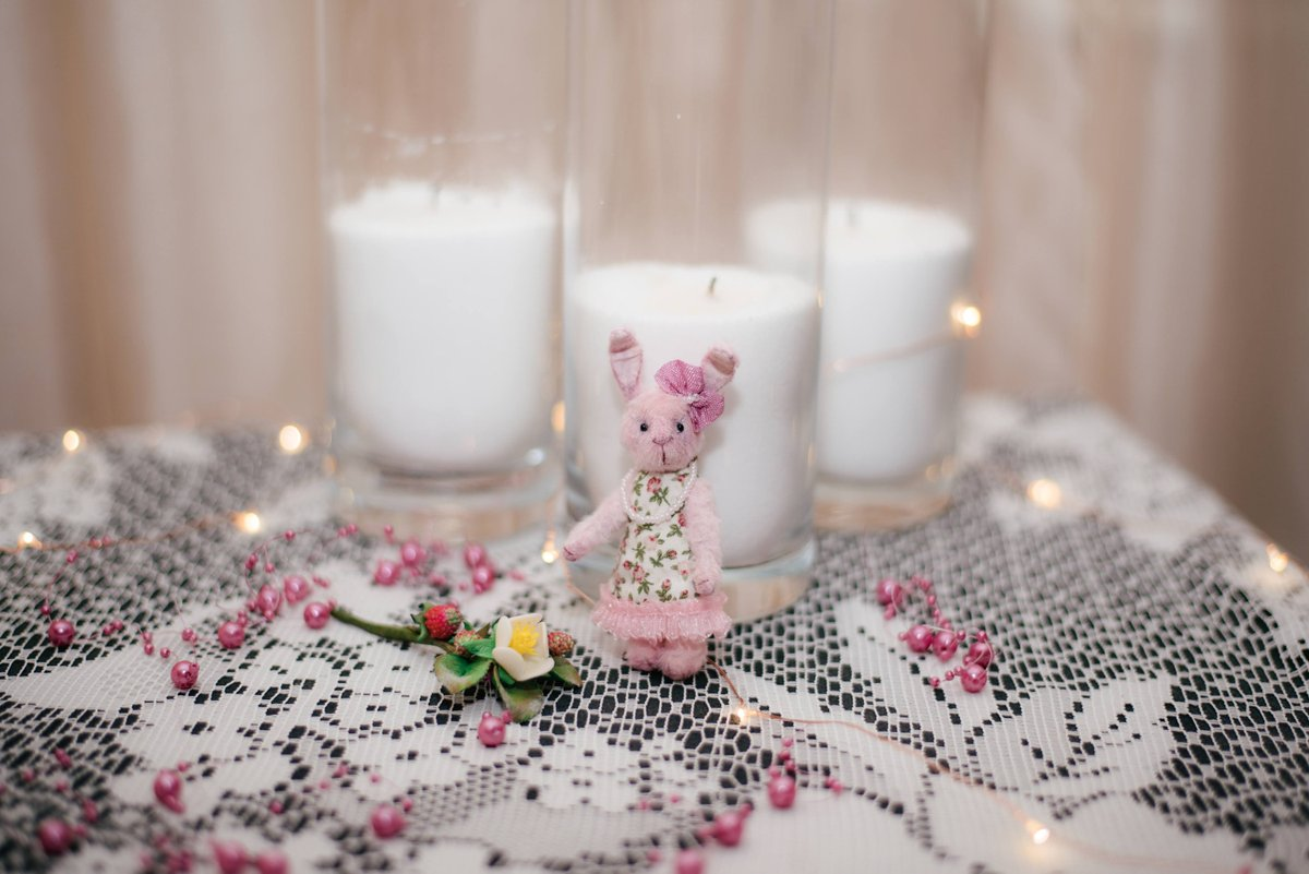 Excited to share the latest addition to my #etsy shop: Miniature Teddy toy pink bunny Easter decor 7 cm / 2.76 in plush dollhouse animals for Blythedoll photo props https://t.co/ox0HmnpIjy #pink #babyshower #easter #miniatureteddy #pinkbunny #rabbittoy #plushanimals #t https://t.co/cebEWpXJvK
