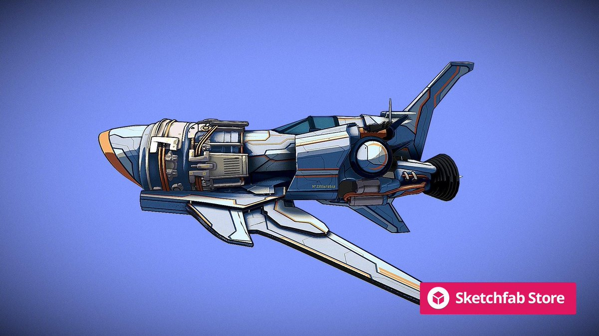 Store staff pick: SPACE SHIP RETRO EVO by ANTONIO GORDILLO AG3D. Buy it now for your #3D, #AR, or #VR projects: bit.ly/3gwafZo