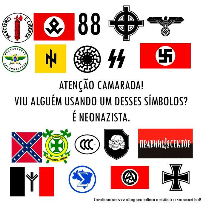 Atenção para os símbolos do fascismo e do neonazismo