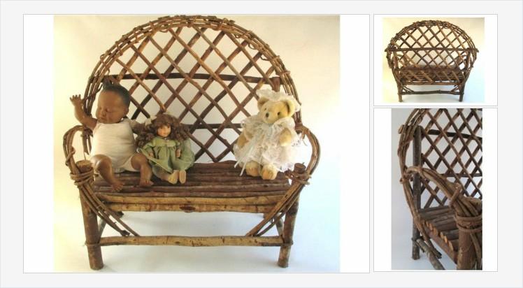 Bentwood Love Seat# Vintage Child's Furniture #FolkArt Twig Built Cottage Cabin Beach Decor #Rustic Loveseat #etsyspecialt #etsyseller #shopsmall #VintageEtsy @SNRTG @SGH_RTs @blazedrts @SpxcRTS #etsy #etsypro @SympathyRTS @FearRTs @RTFAMDNR @Cods_Rts