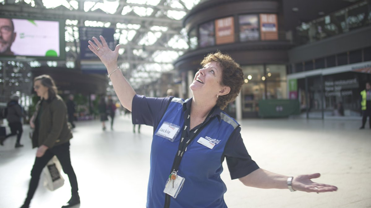 Shes a star, our Jackie. Working hard to help create a museum beneath the platforms for @GLCTours. #InsideCentralStation