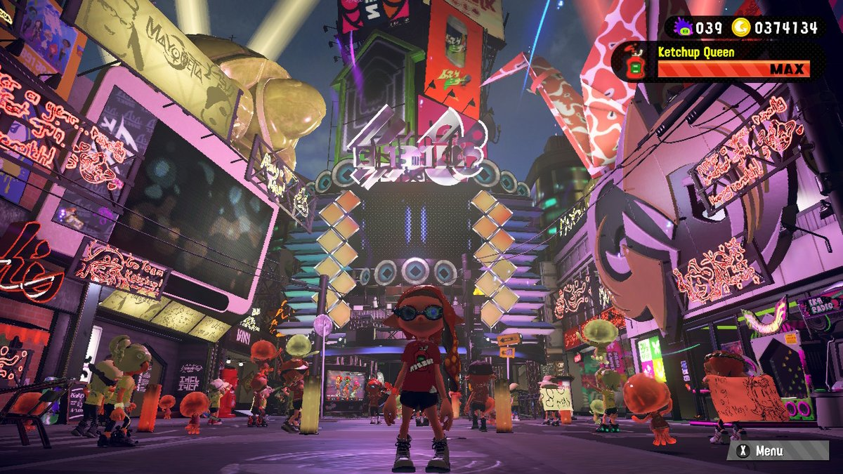 Forgot to post my usual Splatfest selfie! Was so excited to do a Splatfest again (´∀`) #teamketchup #ketchupqueen #Splatoon2 #NintendoSwitch