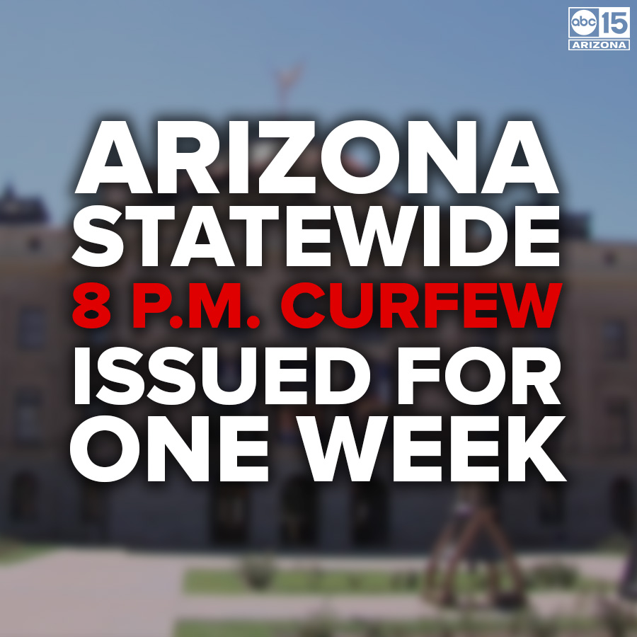 #BREAKING: Arizona Governor Doug Ducey has issued a statewide curfew at 8 p.m. for one week, following violent protests and looting in Phoenix, Scottsdale. https://bit.ly/3evqP9U pic.twitter.com/2uxmSAos7N