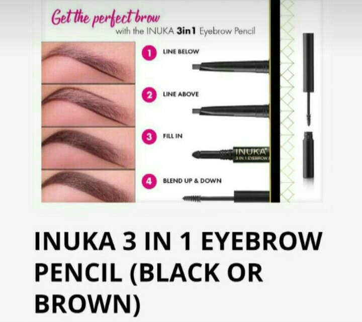 INUKA 3 in 1 eyebrow pencil for R210, available immediately.  WhatsApp me on 0736507135 to order.  Delivery PAXI R50 or Aramex R100.  #inukafragrances #inukaalwayswithyou #inuka #inukaeyebrowpencil  #Uyajola99Sundays #sisonkewithgalaxy #angiemotshekga #Uyajola99 #KeaDrive #DJSBUpic.twitter.com/hqJBBm6ILt
