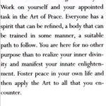 Image for the Tweet beginning: The art of peace begins