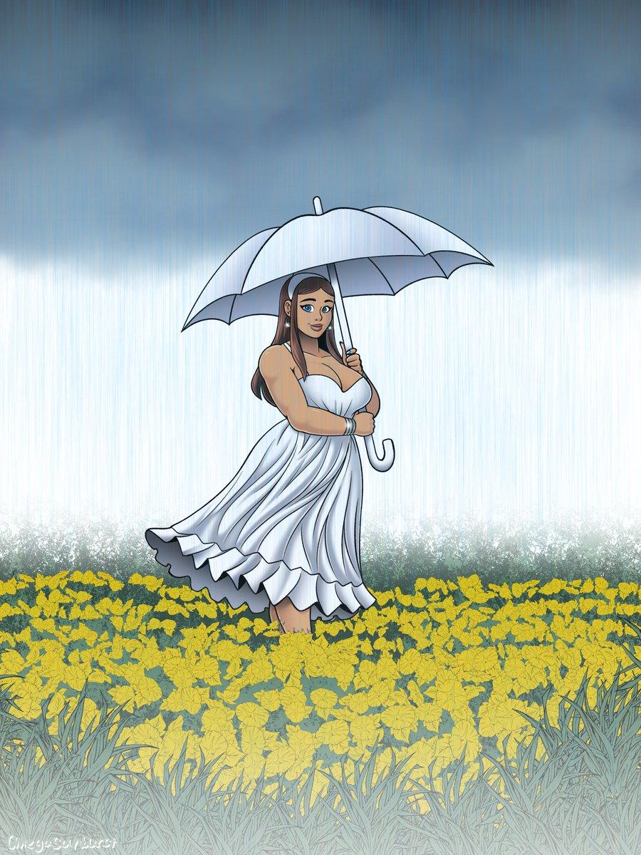 April Showers bring May flowers  #spring #kenzie #whitedress #rain pic.twitter.com/YbFcVmFEHo