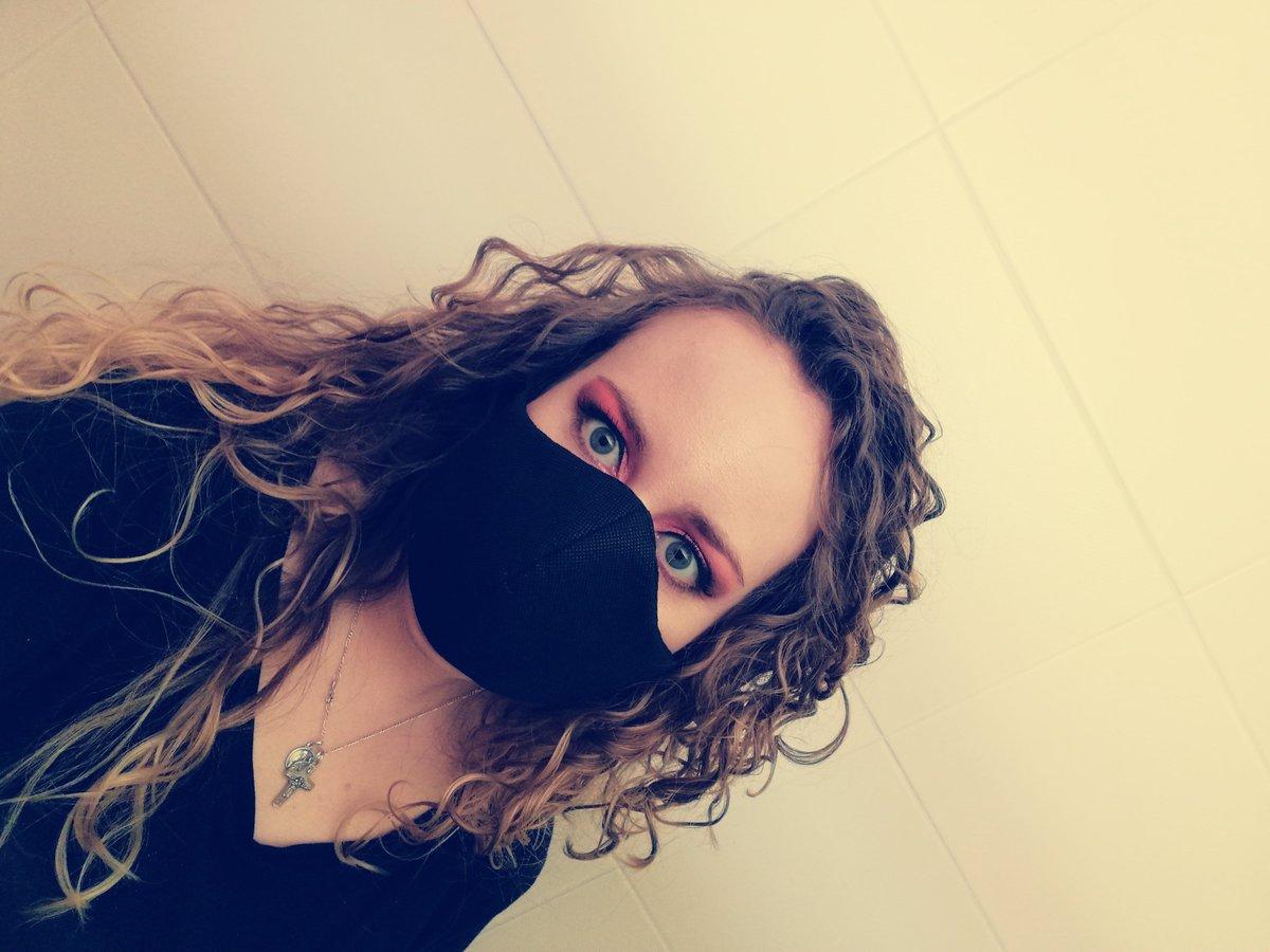 COVID-19 times #makeup #curls #fun